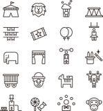 Cyrkowe ikony Zdjęcia Stock