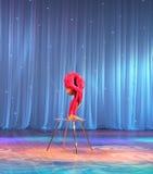 Cyrkowego akrobata klingerytu ciało Obrazy Stock