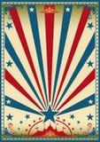 Cyrkowego rocznika czerwony błękitny plakat Zdjęcie Stock