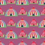 Cyrkowej przedstawienie rozrywki namiotowej markizy plenerowy festiwal z lampasami zaznacza karnawałowego bezszwowego deseniowego Zdjęcie Royalty Free