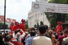 Cyrkowi ludzie w tłoczą się Fotografia Royalty Free