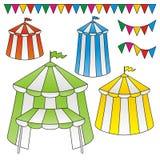 cyrkowi namioty ilustracja wektor