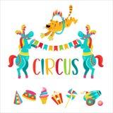Cyrkowy clipart Cyrków wyszkoleni zwierzęta royalty ilustracja