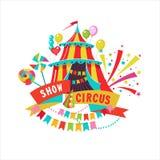 Cyrkowy clipart pasiasty cyrka namiot ilustracja wektor