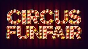 Cyrkowy Funfair sztandaru znaka wektor Dla przyjęcia, festiwalu Signboard projekt Dla broszurki, Partyjny projekt Cyrka styl royalty ilustracja