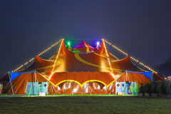 cyrkowy kolorowy namiot Fotografia Royalty Free
