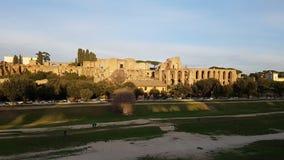 Cyrkowy Maximus, niebo, drzewo, miasto, buduje zdjęcie stock