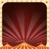 Cyrkowy Plakatowy wektor Cyrkowego namiotu tło Parka Rozrywki przyjęcie Wakacji wydarzenia I rozrywki pojęcie Zdjęcie Stock