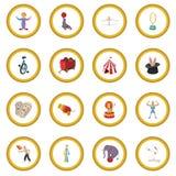 Cyrkowy przedstawienie ikony okrąg royalty ilustracja
