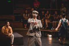 Cyrkowy przedstawienie w Siem Przeprowadza żniwa, Kambodża obrazy stock
