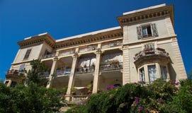 The Cyrnos palace, Ajaccio city, Corsica island, France. Royalty Free Stock Photo