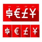 Cyrrency-Satz Stockfoto