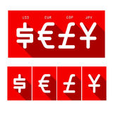 Cyrrency set. Flat design currency icon set Stock Photo