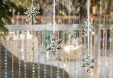 Cystals νιφάδων χιονιού Στοκ εικόνα με δικαίωμα ελεύθερης χρήσης