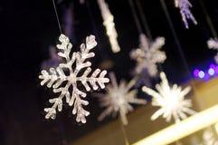 Cystals de la escama de la nieve Fotografía de archivo