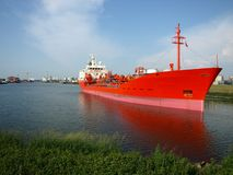 cysterna czerwony statku Obraz Royalty Free
