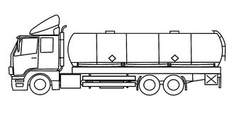 cysternowa ciężarówka Fotografia Stock