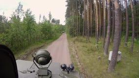 Cysternowy jeżdżenie w lesie zbiory