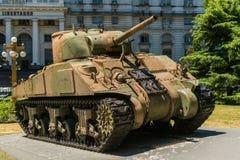 Cysternowy Sherman M4A4 Obrazy Stock