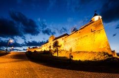 Cytadela Brasov w nocy, punkt zwrotny Brasov Fotografia Stock