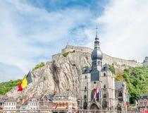 Cytadela Dinant w Belgia obrazy royalty free
