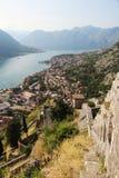 Cytadela w Kotor, Montenegro obrazy stock