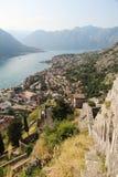 Cytadela w Kotor, Montenegro fotografia stock