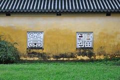 cytadeli odcienia ściany okno kolor żółty Zdjęcie Royalty Free