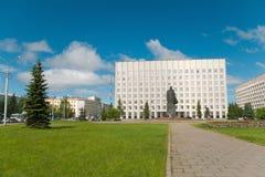 Cyti van Arkhangelsk, stadscentrum stock afbeelding