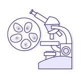 Cytological tests. Vector medical outline illustration. Royalty Free Stock Images
