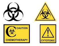 Cytotoxic Biohazard en de symbolen van de Chemotherapie vector illustratie