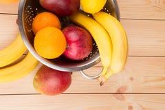 Cytrusów banany i owoc Fotografia Royalty Free