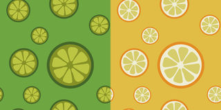 Cytrus owoc bezszwowi wzory Obraz Stock