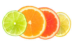 Cytrus owoc odizolowywająca na bielu Obraz Royalty Free
