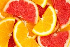 Cytrus pomarańcze i grapefruitowy Obrazy Stock