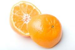 cytrusa clementine rżnięty świeżej owoc soczysty mandarine zdjęcie stock