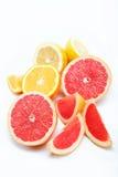 Cytrusa owoc odizolowywać na biel. Zdjęcie Stock