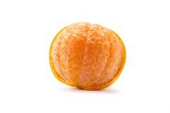 Cytrusa tangerine pomarańczowa owoc odizolowywająca na białym tle Zdjęcie Stock