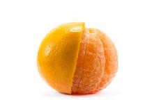 Cytrusa tangerine pomarańczowa owoc odizolowywająca na białym tle Fotografia Royalty Free