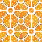 Cytrusa wzór z pomarańczowymi plasterkami Obrazy Royalty Free