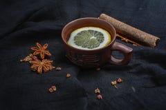 Cytryn pikantność i herbata Zdjęcia Royalty Free
