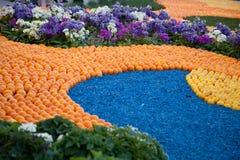 Cytryna festiwal w Menton, wzór cytryny i pomarańcze Obrazy Royalty Free