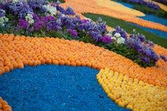 Cytryna festiwal w Menton, wzór cytryny i pomarańcze Obraz Royalty Free