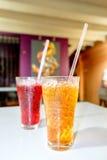 Cytryna herbaciani Tajlandzcy ziołowi napoje z lodem w szkłach Obrazy Stock