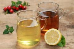 Cytryna i rooibos herbaciani zdjęcie stock