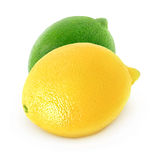 Cytryna i wapno zdjęcia stock