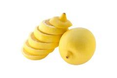 Cytryna round plasterki składający up Zdjęcie Stock