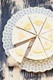 Cytryna tort lawendowy surowy Fotografia Stock