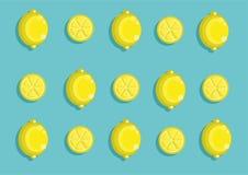 Cytryna wzór Zdjęcia Stock