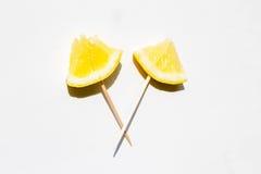 Cytryna z chopsticks Obrazy Stock
